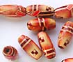 painted wooden beads, jewelry making supply wholesaler