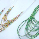 Seed beaded multi string fashion assorted color jewelry set