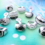 enamel cz costume jewelry rings