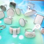 wholesale seashell silver rings