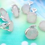 Precious clear gemstone rings