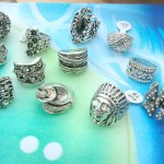 Antique vintage costume jewelry rings with cz