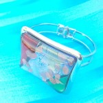 Square light color metal bangle