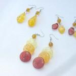 Fashion imitation amber fish hook earring