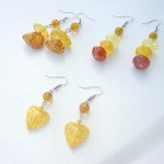 New age fashion faux amber french hook earring