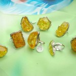 Imitation yellow amber rings