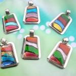 Murano glass pendant necklace jewelry