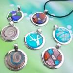 handmade murano glass round pendant necklace choker jewellery wholesale