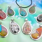 wholesale murano glass pendants in teardrop designs