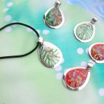 murano glass jewelry pendants necklace raindrop designs