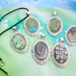 murano glass jewelry wholesaler supply classical oval design necklaces