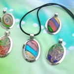 Murano glass jewelry and accessories oval necklaces