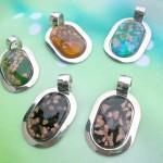 Wholesale necklaces murano glass oval shape pendant