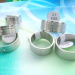 wide band stainless steel rings