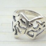 Trendy 925. stamped silver ring with broken a part design