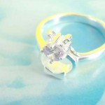 A Gift pack with clear cz, precious 925. sterling silver ring