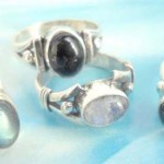 925. stamped silver ring with variety gemstone