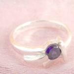 Triple fringe holding purple cz design,designer inspired 925. sterling silver pendant