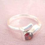 Fashion fine line holding a ruby cz design,designer inspired 925. sterling silver pendant
