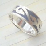 Fashion floral knot design,designer inspired 925. sterling silver ring