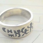 Tribal culture design,vintage 925. stamped silver ring