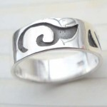 Dolphin tail,designer inspired 925. sterling silver ring