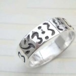 Ancient lauguage,designer inspired 925. sterling silver ring
