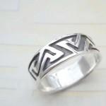 Maze pattern,designer inspired 925. sterling silver ring