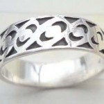 Beauty 925. stamped silver tattoo knot ring