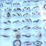 Lady fashion handcrafted black enamel cz ring