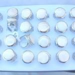 Enlarge round white fresh water seashell ring