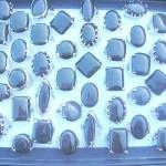 Black onyx fashion silver plated gemstone ring