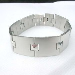 I shape with square tube fashion stainless steel bracelet