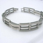 Window shape fashion stainless steel bracelet