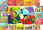 High quality thick rayon wrapping floral theme sarong, randomly picked.
