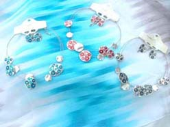 Enamel fashion elegant necklace and earring jewelry set