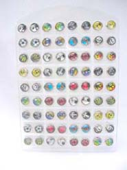 Teen fashion assorted stainless steel earring