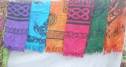 Celtic or tattoo pattern pareo sarong