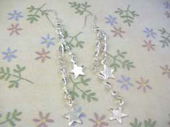 twisted star,925 sterling silver earring