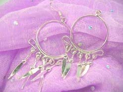 Circular chandelier, Stamped 925 sterling silver earring