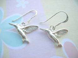 Flying bird, Stamped 925 sterling silver earring