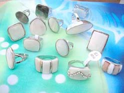 wholesale seashell silver rings