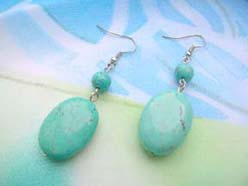 turquoise fashion earrings oval design