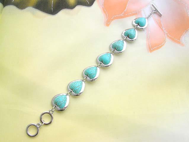 Toggle Bracelet Turquoise Stone006