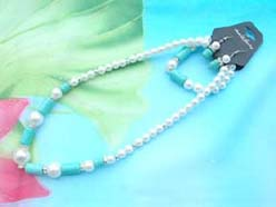 beaded-jewelry-set007faux-pearl-turquoise