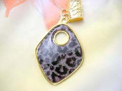black leopard animal print pendant