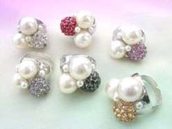 ring faux pearl cubic zirconia jewelry