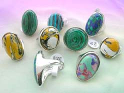 wholesale rings embeded with colorful gemstones