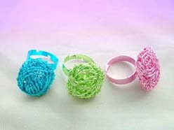 color wired adjustable fashion rings