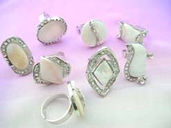 cheap jewelry shell rings, adjustable sizes